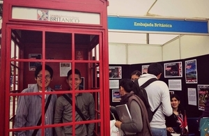 The British Embassy in Lima participated in the fair showcasing UK expertise in innovation and technology.