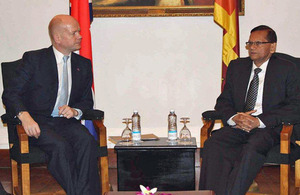 William Hague and G.L. Peiris