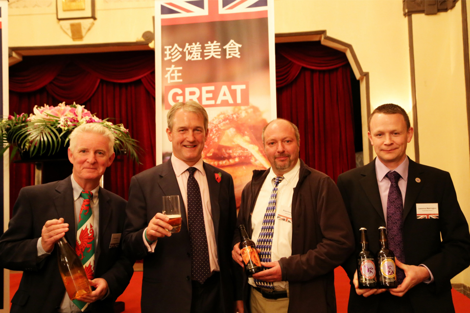 Owen Paterson with wine and beer producers in China