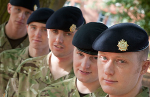 Left to right: Private Ben Regan, Pte Lee Wingrove, Pte Cai Thomas, Lance Corporal Sam Neil and Sergeant Terence Wall