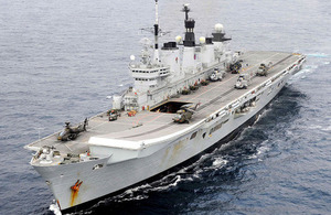 HMS Illustrious. Picture: Joel Rouse/ Ministry of Defence