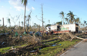 Aftermath of Typhoon Haiyan in rural Leyte province