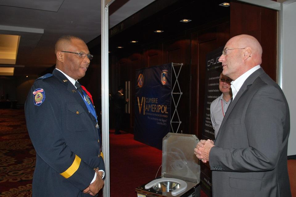 Officer meets UK businessman