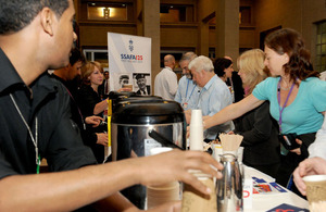 The Big Brew Up held in the Ministry of Defence's headquarters building in London