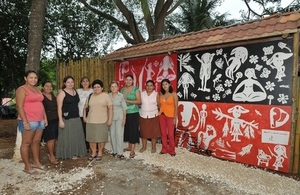 Artists with mural