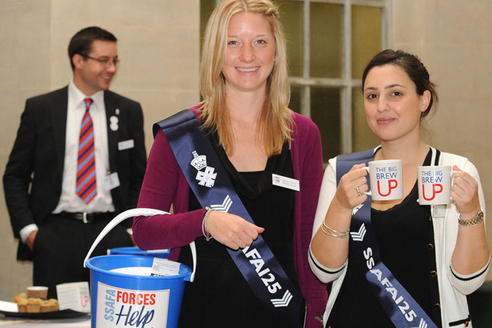 SSAFA Forces Help representatives were on hand to collect donations from MOD staff