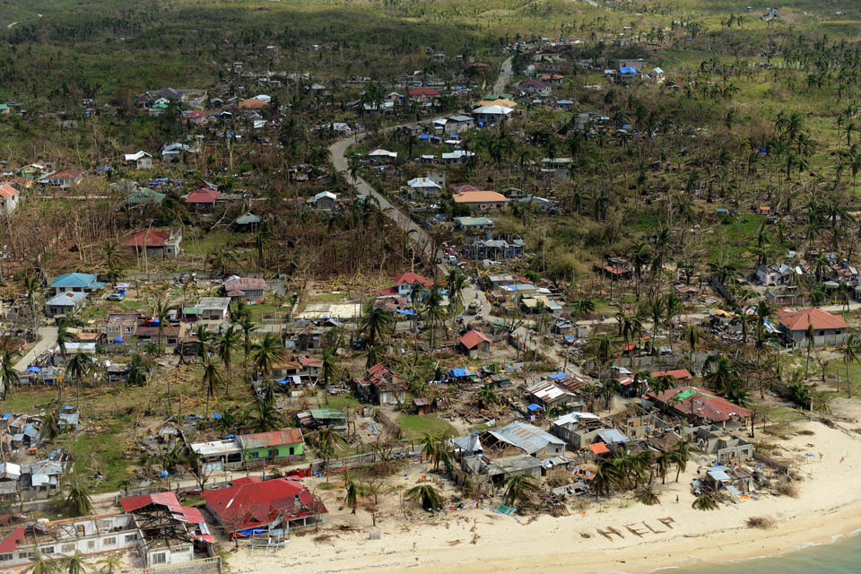 Devastation caused by Typhoon Haiyan