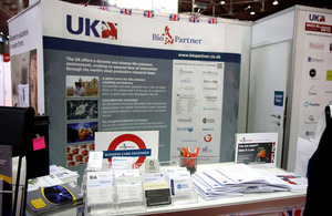 UK stand at Biotech industry event, Vienna 2013
