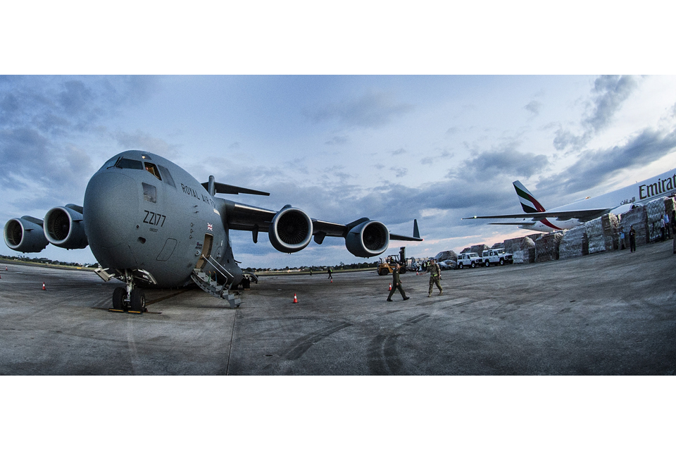 The C-17 at Cebu Airport
