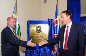 Her Majesty's Ambassador to Uzbekistan Mr George Edgar to shake hands with Headmaster Mr. David Kirkham