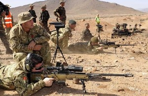 Sniper training during Exercise Jebel Sahara [Picture: Corporal Scott Robertson RAF, Crown copyright]