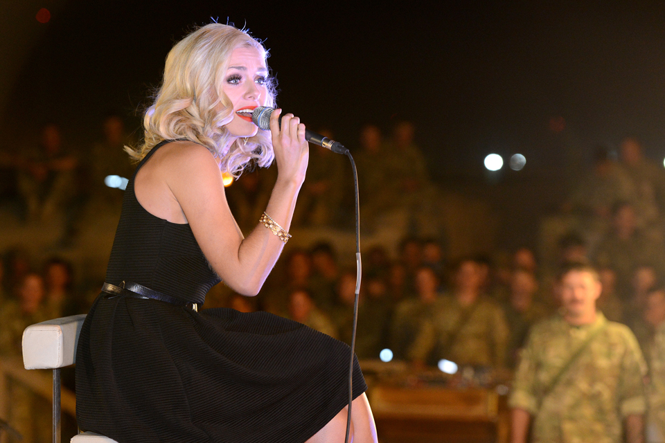 Katherine Jenkins singing