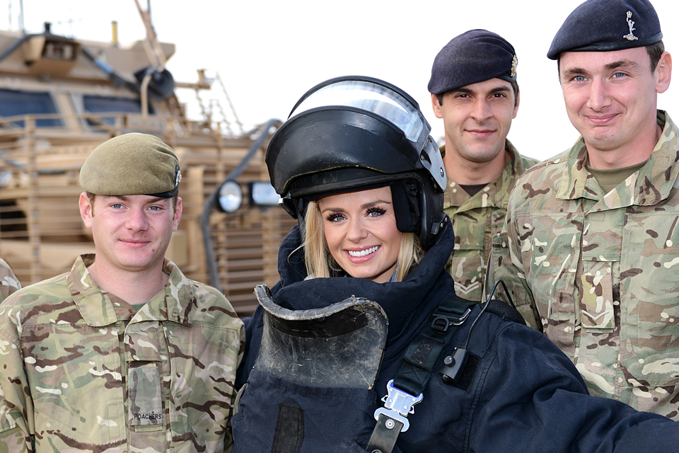 Katherine Jenkins with British troops