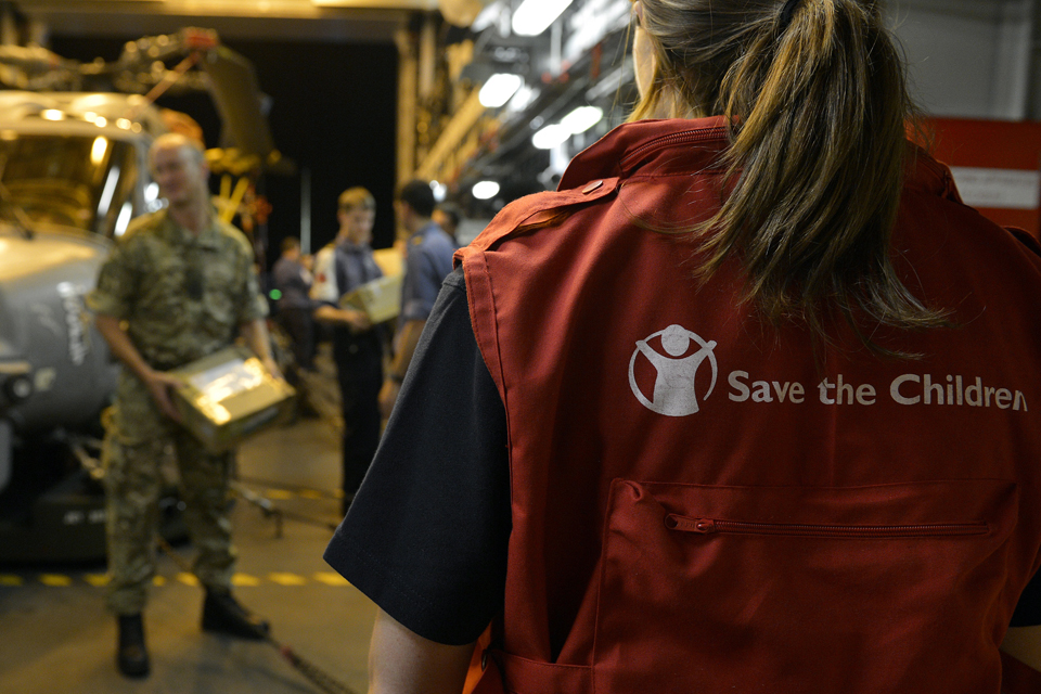 A member of the medical team from Save the Children
