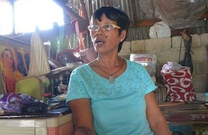 Ofelia Aparri received disaster risk reduction training through a UK aid funded programme.