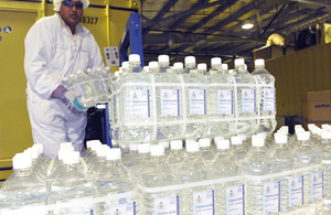 Camp Bastion's MOD-owned water bottling plant