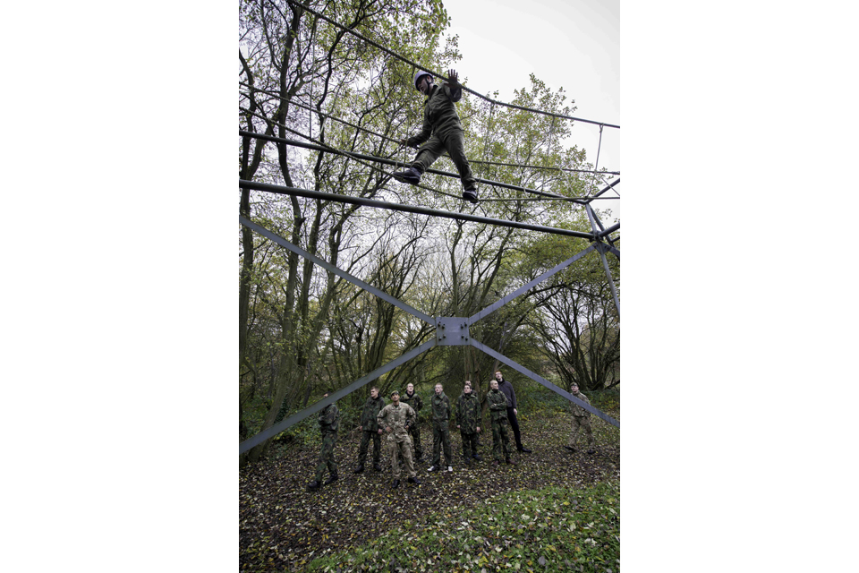 Young people getting a taste of military life