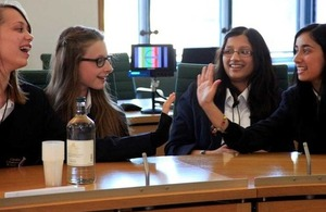 School pupils discuss international development