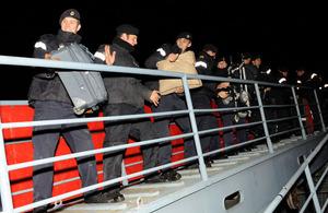 Crew members from HMS Cumberland