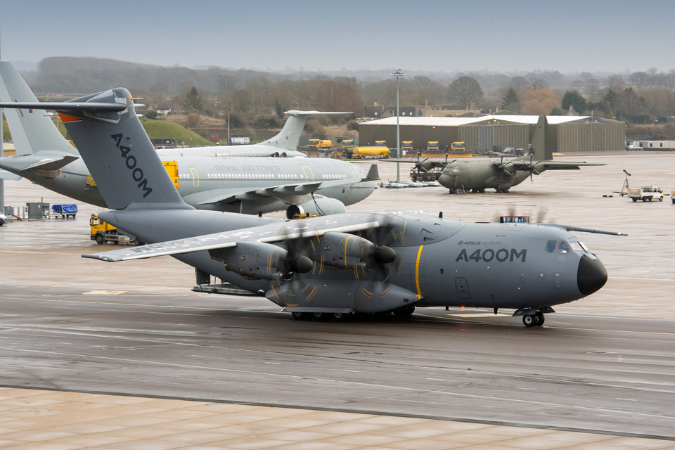 Airbus A400M at RAF Brize Norton