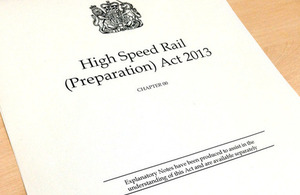 High Speed Rail Preparation (paving) Act has received Royal Assent