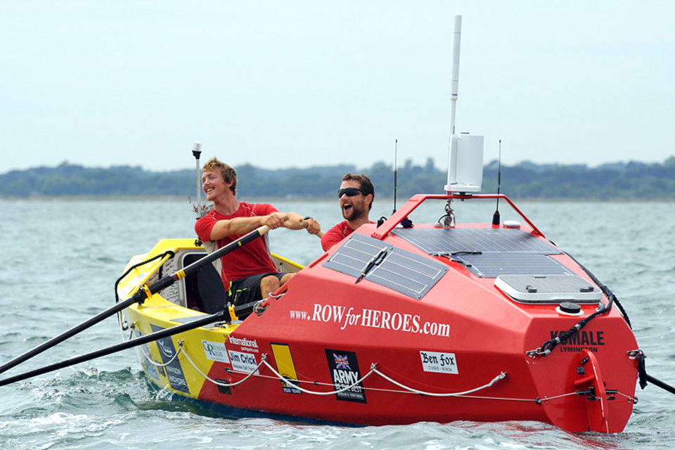 Captains Hamish Reid and Nick Dennison rowed non-stop around Britain in 50 days