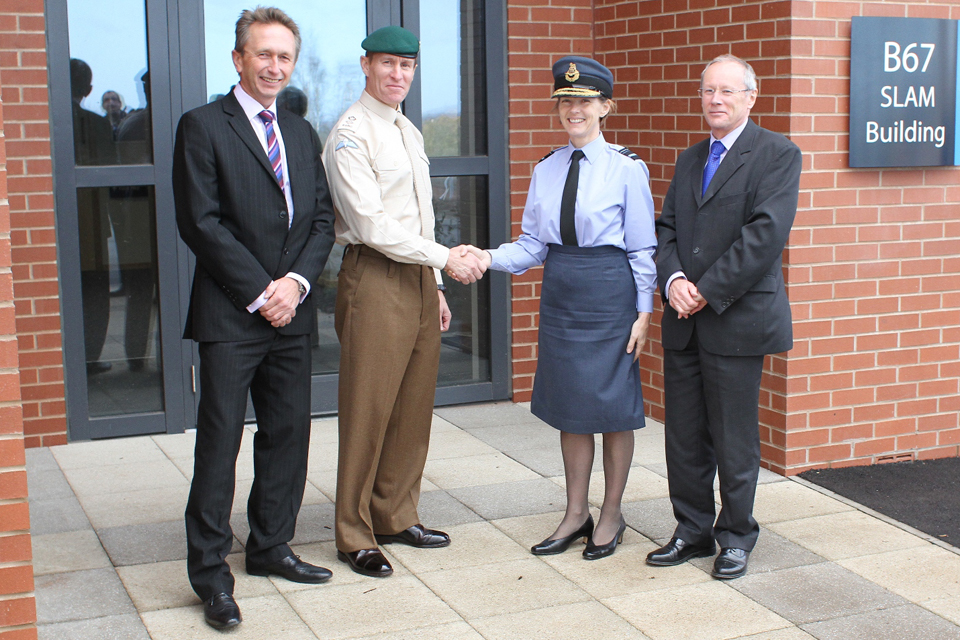 Air Vice-Marshal Elaine West (2nd from left)