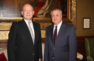 British and Uzbek Foreign Ministers discuss bilateral cooperation
