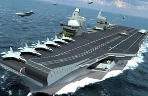 Computer-generated image of the Future Carrier