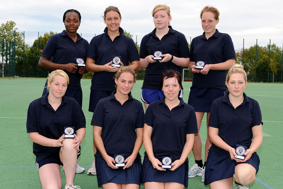 2 Medical Regiment's netball team, runners up at this year's British Army (Germany) Inter Unit Netball Competition