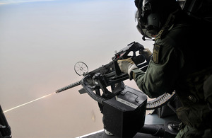Commando Helicopter Force door gunner
