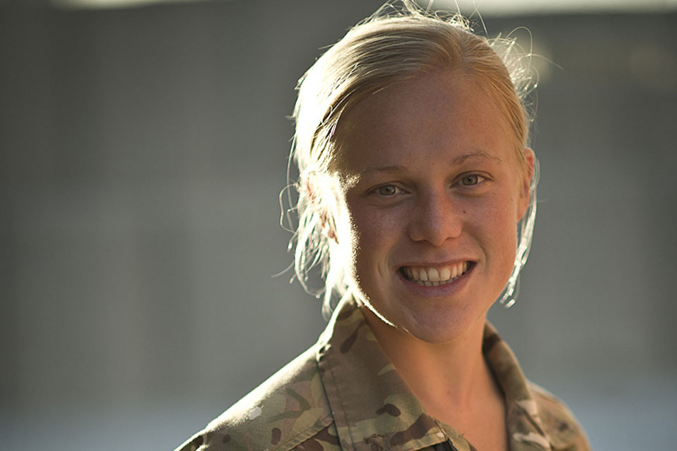 Lieutenant Claire Westerman of the Army's Educational and Training Services