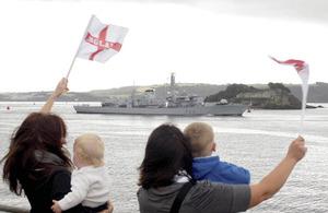 HMS Argyll returns to Devonport