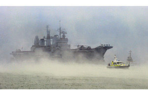 HMS Ark Royal returns to her home port of Portsmouth