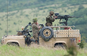 Troops from the Fire Support Group Division on Exercise First Strike [Picture: Crown copyright]