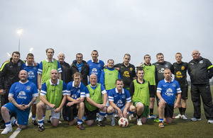 Everton Manager Roberto Martinez with Imagine Your Goals participants on World Mental Health Day.