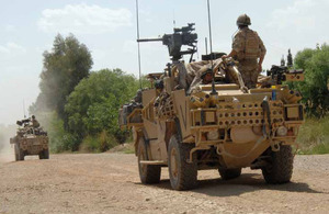 Jackal 2 vehicles in Afghanistan