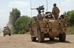 Jackal 2 vehicles in Afghanistan