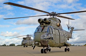Puma Mk2 helicopters at RAF Benson in Oxfordshire [Picture: Senior Aircraftman James Goff, Crown copyright]