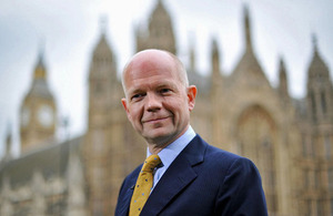 The Foreign Secretary William Hague