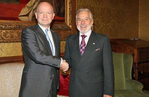Foreign Secretary meets Nicaraguan Foreign Minister Samuel Santos