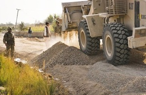 British soldiers oversee the construction of Route Trident in the Nahr-e Saraj area of Helmand province, Afghanistan (library image) [Picture: Senior Aircraftman Neil Chapman, Crown copyright]