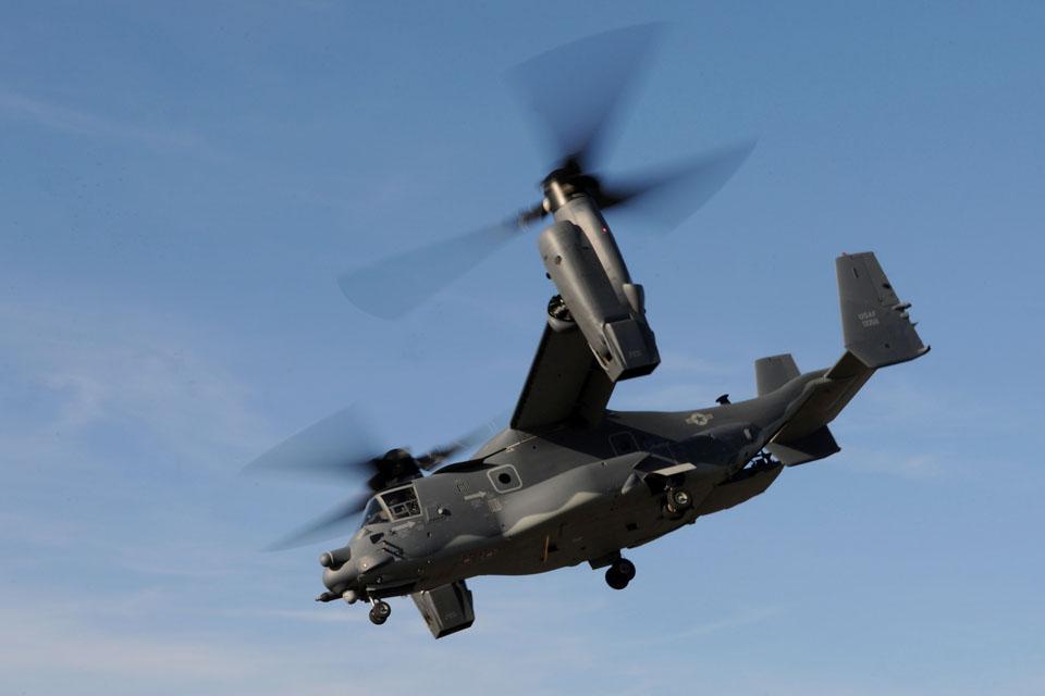 A United States Air Force CV-22 Osprey