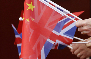 UK and China flags.