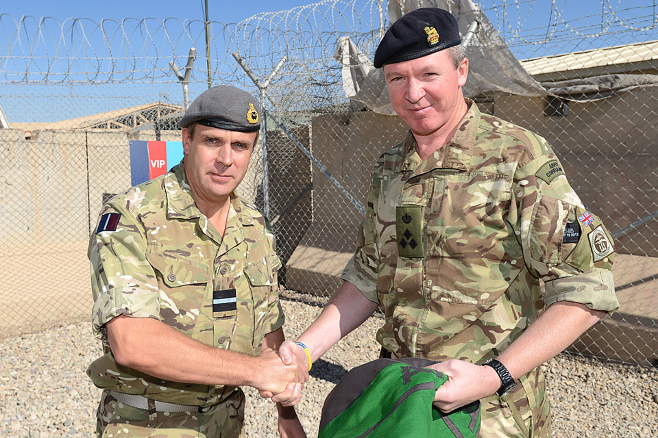 Air Commodore John Bessell with Brigadier Martin Moore