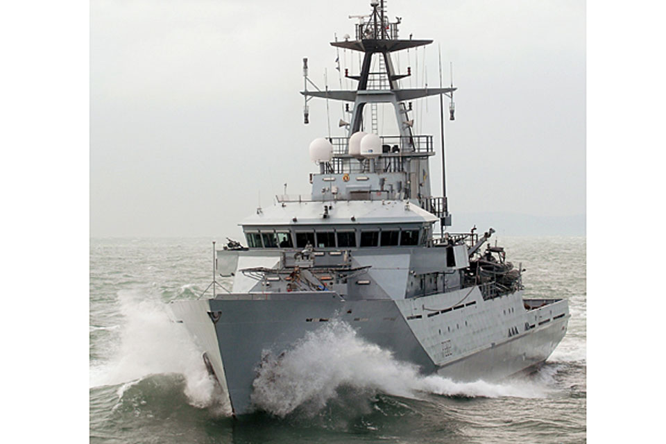 Fishery Protection Patrol Vessel HMS Severn (stock image)