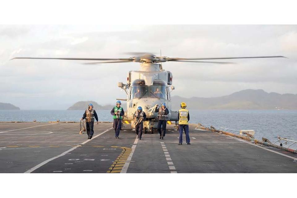 Flight deck operations aboard HMS Illustrious