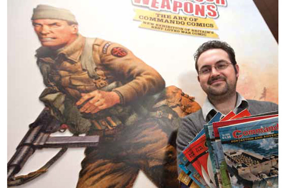 Robert Fleming, Curator of Fine and Decorative Art, National Army Museum [Picture: Harland Quarrington, Crown Copyright/MOD 2012]