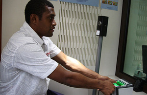 All UK visa applicants in Fiji will be required to pay for their visa online from 16 December 2013.
