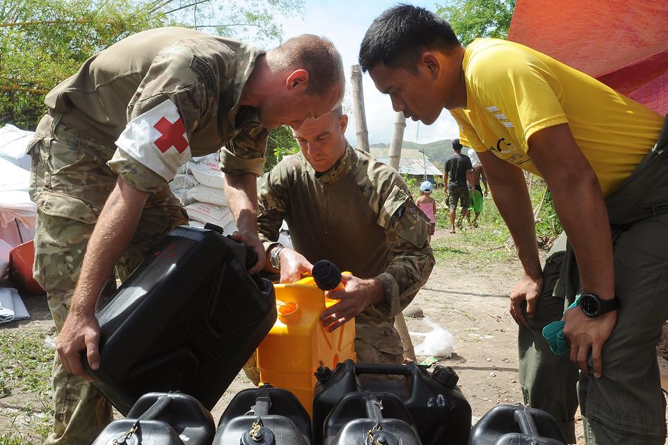Distributing clean drinking water